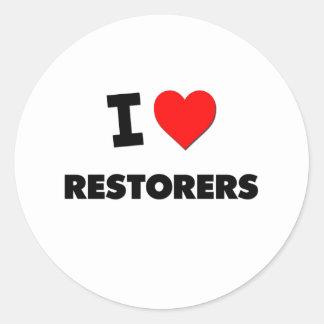 I Love Restorers Stickers