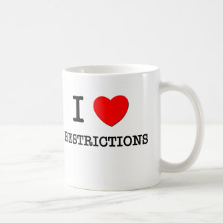 I Love Restrictions Classic White Coffee Mug
