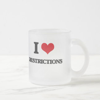 I Love Restrictions Frosted Glass Mug