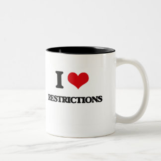 I Love Restrictions Two-Tone Coffee Mug