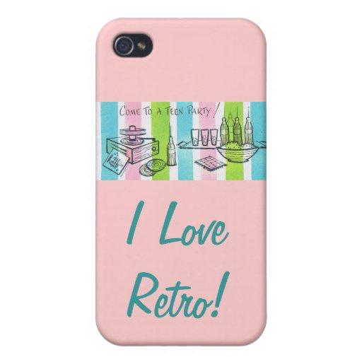 I Love Retro/ Teen Invite Cover For iPhone 4