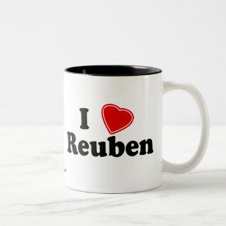 I Love Reuben Two-Tone Coffee Mug