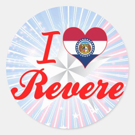 I Love Revere, Missouri Stickers