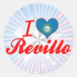 I Love Revillo, South Dakota Stickers