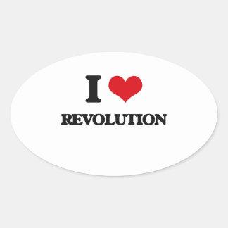 I Love Revolution Oval Sticker