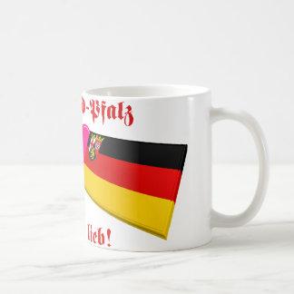 I Love Rheinland-Pfalz ist mir lieb Basic White Mug