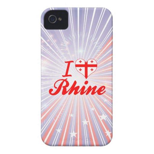I Love Rhine, Georgia iPhone 4 Cases