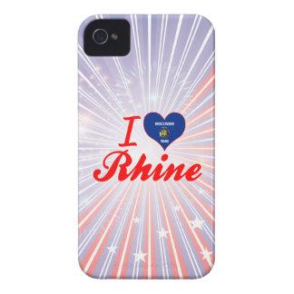 I Love Rhine, Wisconsin iPhone 4 Cover