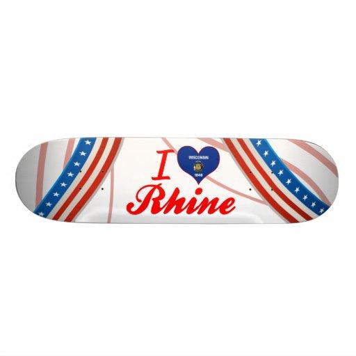 I Love Rhine, Wisconsin Skateboard Deck