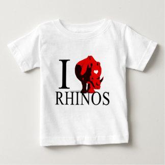 I Love Rhinos Baby's Baby T-Shirt