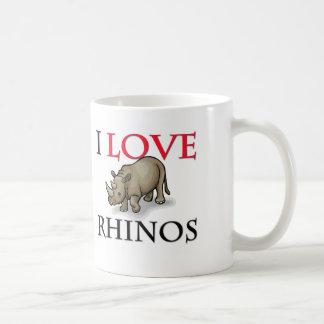 I Love Rhinos Basic White Mug