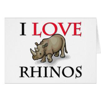 I Love Rhinos Card