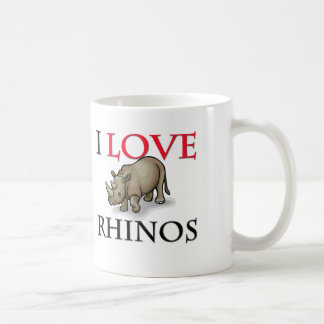I Love Rhinos Coffee Mug