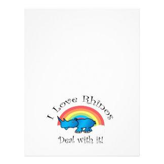 I love rhinos deal with it 21.5 cm x 28 cm flyer