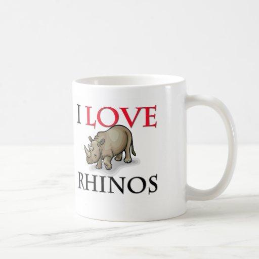 I Love Rhinos Mugs