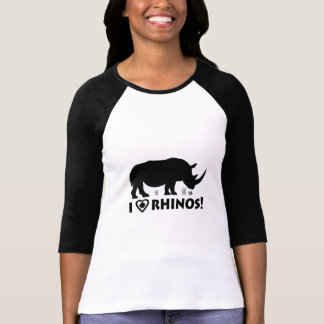 I Love Rhinos with Hoof Print T-Shirt
