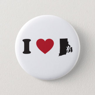 I Love Rhode Island 6 Cm Round Badge