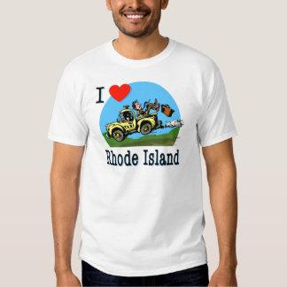 I Love Rhode Island Country Taxi Tee Shirt