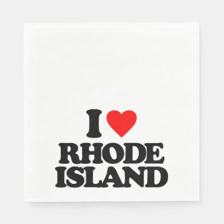 I LOVE RHODE ISLAND DISPOSABLE NAPKINS