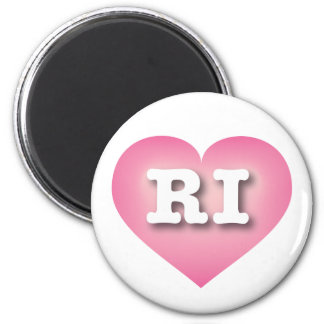 I love Rhode Island pink fade heart Refrigerator Magnets