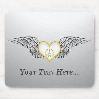 I Love Rhode Island -wings Mouse Mat