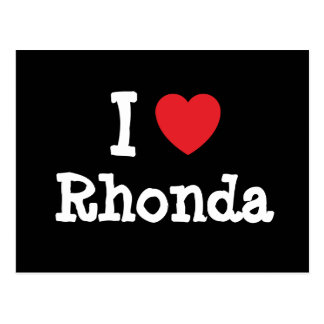 I love Rhonda heart T-Shirt Postcard