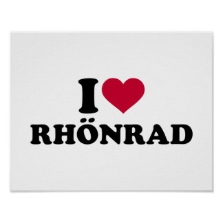 I love Rhönrad Poster