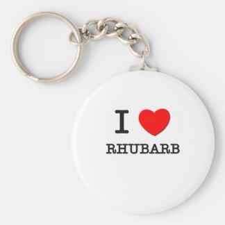 I Love Rhubarb Basic Round Button Key Ring