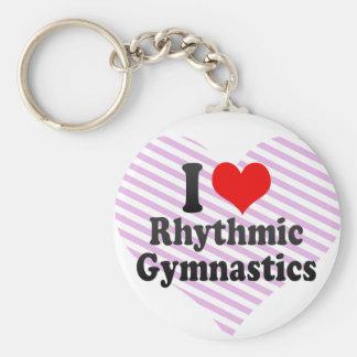 I love Rhythmic Gymnastics Basic Round Button Key Ring