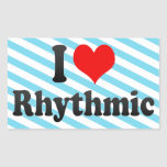 I love Rhythmic Rectangle Stickers