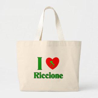 I Love Riccione Italy Jumbo Tote Bag