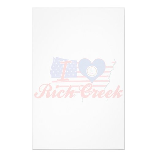 I Love Rich Creek, Virginia Stationery Paper