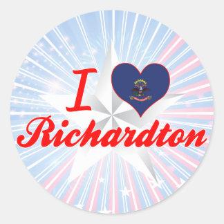 I Love Richardton, North Dakota Round Stickers