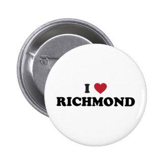 I love Richmond California 6 Cm Round Badge