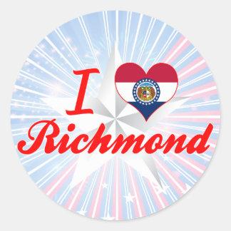 I Love Richmond, Missouri Sticker