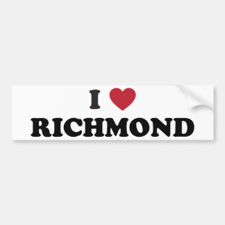 I love Richmond Virginia Bumper Sticker