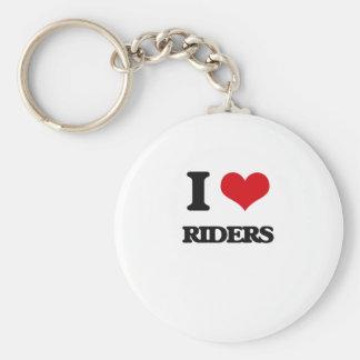 I Love Riders Basic Round Button Keychain