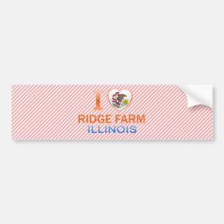 I Love Ridge Farm IL Bumper Sticker
