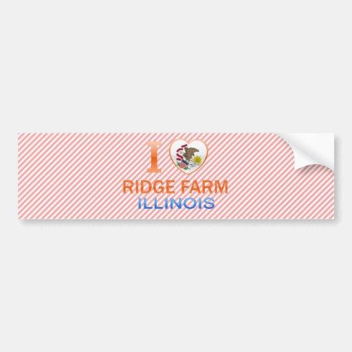 I Love Ridge Farm, IL Bumper Sticker