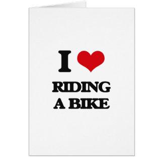 I love Riding A Bike Greeting Card