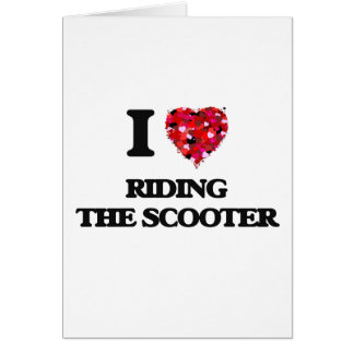 I love Riding The Scooter Greeting Card