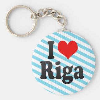 I Love Riga, Latvia Key Ring