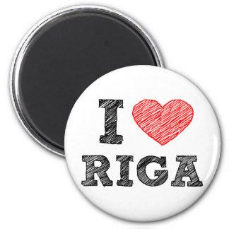 I Love Riga Refrigerator Magnet