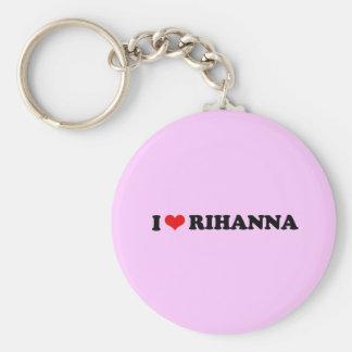 I LOVE RIHANNA / I HEART RIHANNA BASIC ROUND BUTTON KEY RING