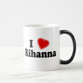 I Love Rihanna Morphing Mug