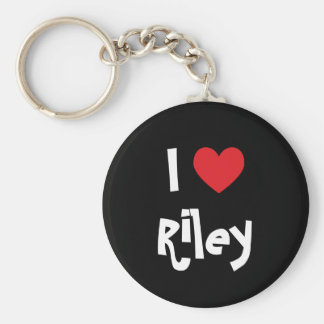 I Love Riley Key Ring