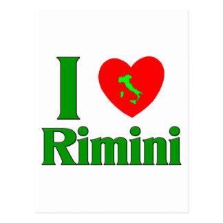 I Love Rimini Italy Postcard