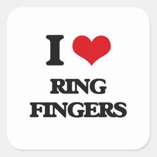 I love Ring Fingers Square Sticker