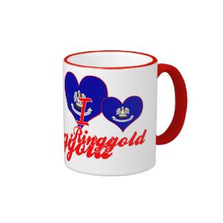 I Love Ringgold, Louisiana Ringer Coffee Mug