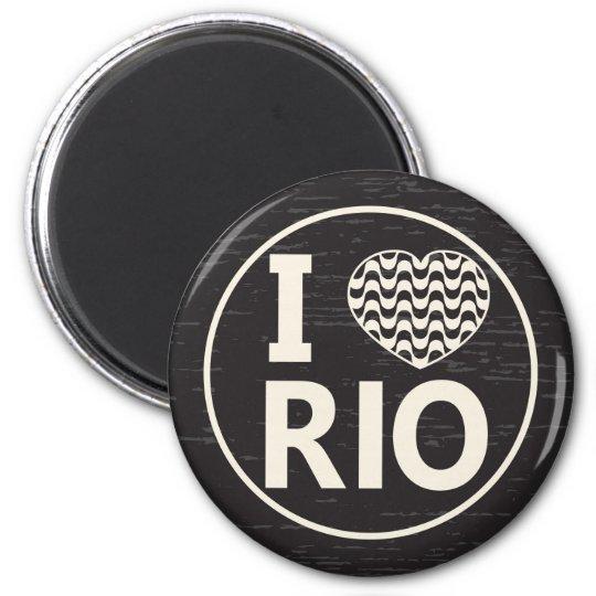 I love Rio 6 Cm Round Magnet